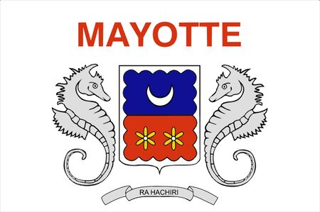 mayotte: 2D illustration of the flag of Mayotte