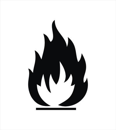 zwart ontvlambaar teken geïsoleerd op wit Vector Illustratie