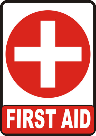 cross with care: First Aid Sign Illustration