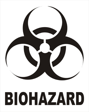 biohazard symbol: Biohazard Black Sign