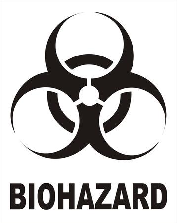 biological waste: Suscribirse Negro de riesgo biol�gico Vectores