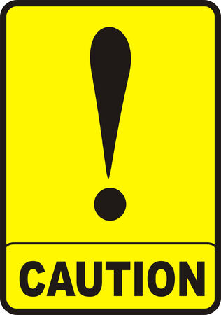 dodgy: Caution Sign Illustration