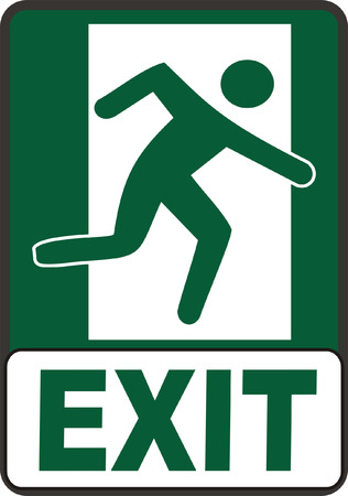 fire exit sign: Emergency Exit Sign