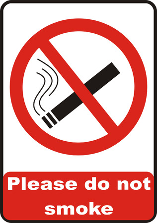 No Smoking Sign Vectores