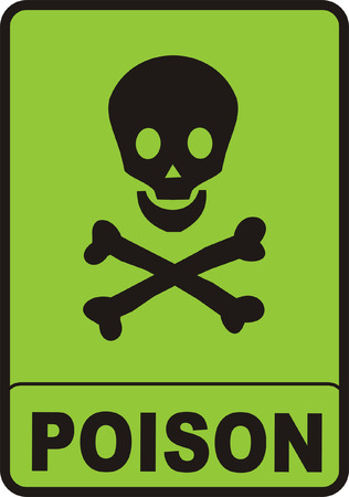 poison sign: Poison Sign Illustration