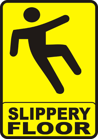 janitorial: Slippery Floor Sign