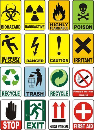 Useful Warning Symbols Stock Photo - 4316237