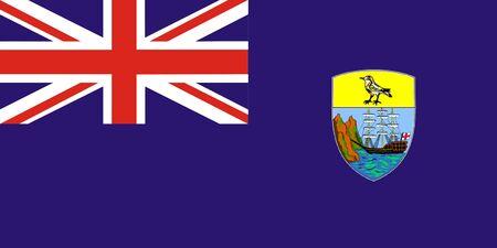 helena: Saint Helena Flag Stock Photo