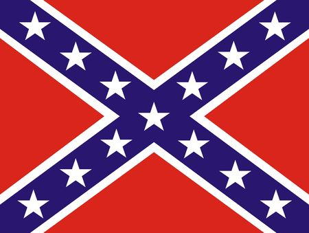star wars: 2D illustration of a american Confederate Flag Stock Photo