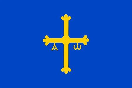 This is Asturias flag illustration computer generated.