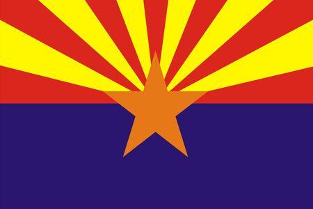 Arizona Flag Banco de Imagens