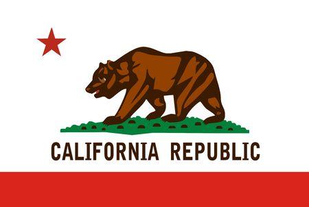 カリフォルニア州の旗 写真素材