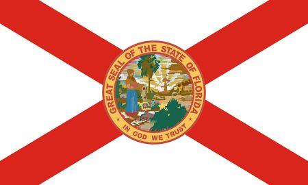 Florida Flag Banco de Imagens