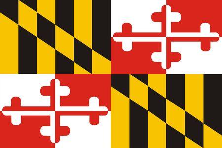 Maryland Flag Banco de Imagens