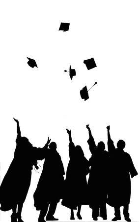 卒業 写真素材