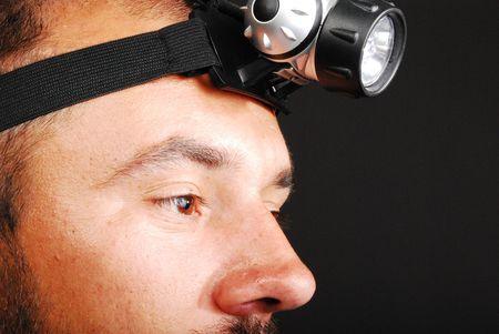 headlamp: Man With Led Headlamp