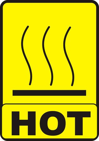 Hot Surface Sign Stock Photo - 5115308