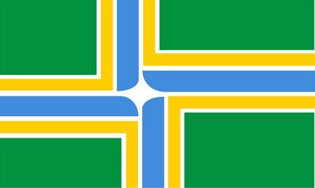 ポートランドの旗の 2 D イラスト
