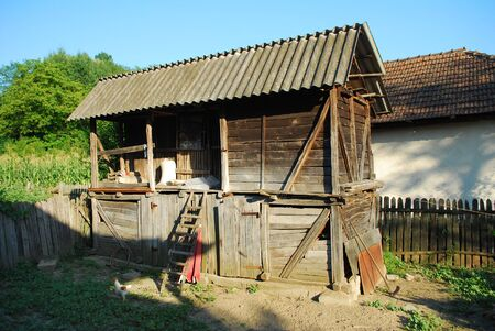 functional: Picture of old rustic but functional house