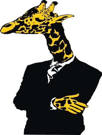Giraffe man photo