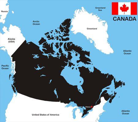 캐나다 국가의지도가 있습니다.