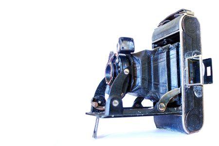 lizenzfreie fotos: Vintage alten Stil-Kamera auf wei�en Hintergrund isoliert