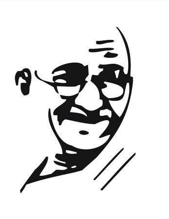 マハトマ ・ ガンジー 写真素材