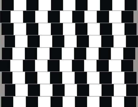 deceptive: Lijnen zijn parallel maar lijken te zijn van schuine optische illusie