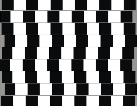 seem: Lines are parallel but seem to be slanted optical illusion Stock Photo