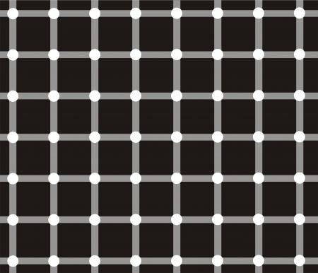 deceptive: Donkere vlekken lijken te verschijnen en verdwijnen zeer snel op de kruispunten