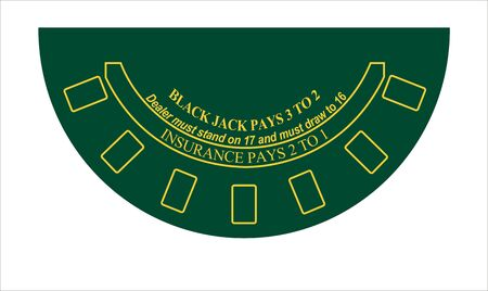 blackjack: black jack table layout