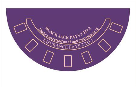 black jack table layout Stock Photo - 8337222