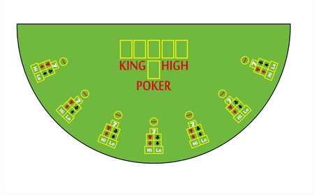 hold em: poker table layout