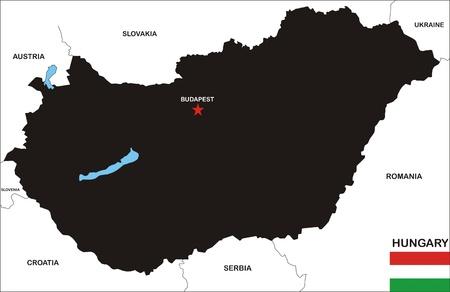 Hungary map Stock Photo - 8573825
