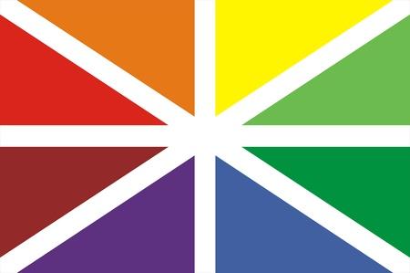 nationalist: color illustration of batasuna basque nationalists flag big size