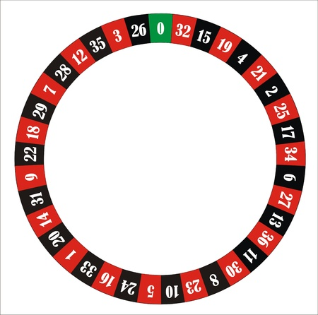 computer generated roulette wheel with numbers and colours Stock Photo
