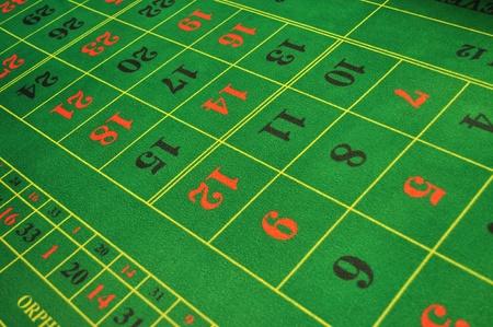 数字と本物のカジノ ルーレット緑レイアウト