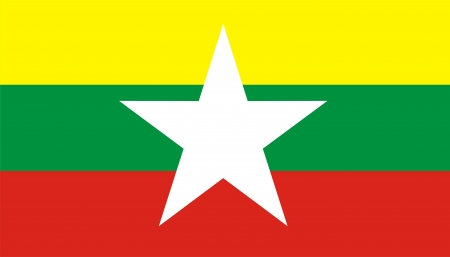 computer generated myanmar new flag very big size
