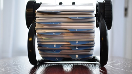 rolodex: image with a business card holder general