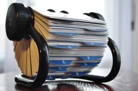 Alphabetische Kartei Für Organizarion Der Geschäftlichen