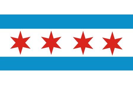 アメリカの都市の非常に大きなサイズ シカゴ