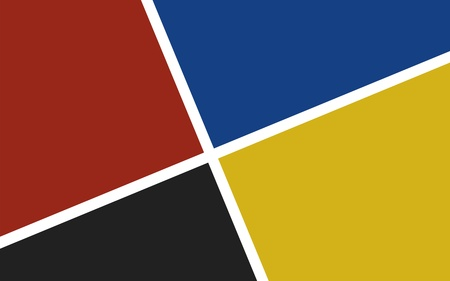 bauhaus: four colors squares abstract background in bauhaus style