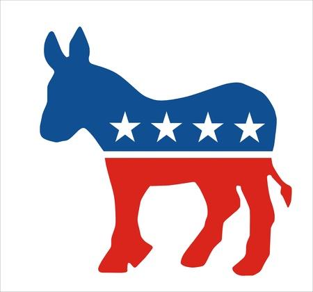 非常に大きなサイズの民主党のロバのシンボル