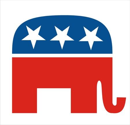 very big size republicans party elephant symbol Editorial