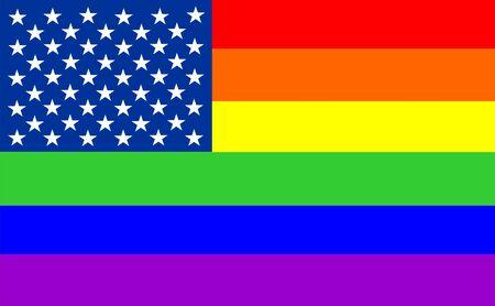 very big size usa gay flag illustration