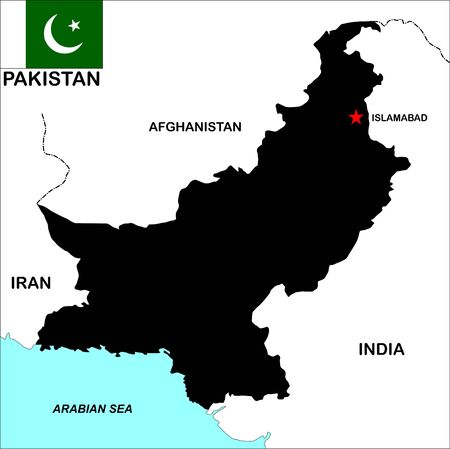 very big size pakistan political map illustration illustration