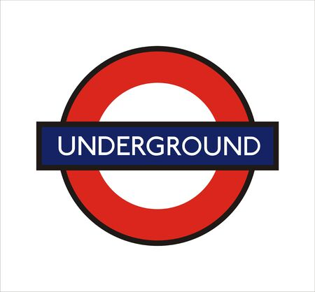 underground: very big size london underground sign illustration