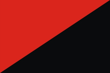 anarchist: Red and black flag of Anarchist Communism and Anarcho Syndacalism