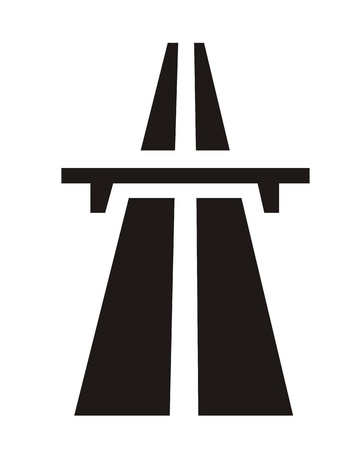 very big size black and white highway symbol Stock Photo - 12982739