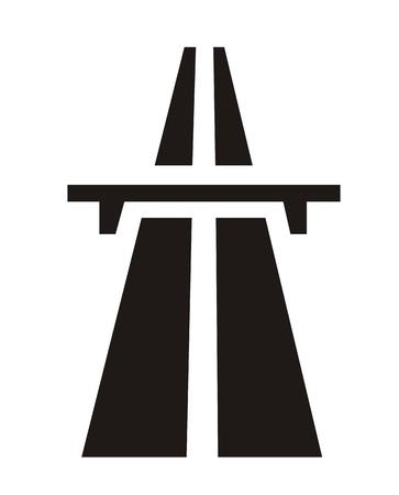 very big size black and white highway symbol photo